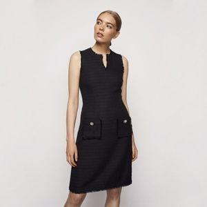 Karl Lagerfeld Black Tweed Dress Size 14 NWOT